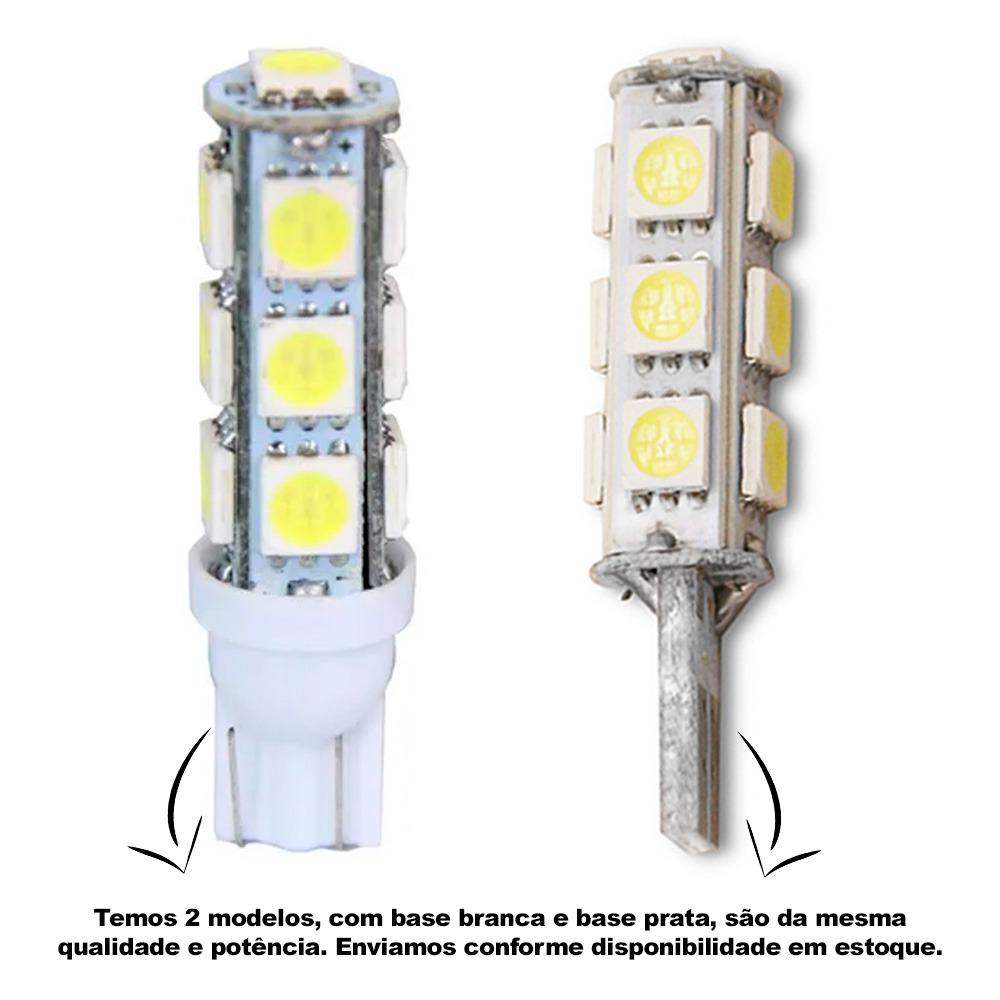 Par Lâmpada Pingo T10 13 Leds 12v 5w Luz Branca