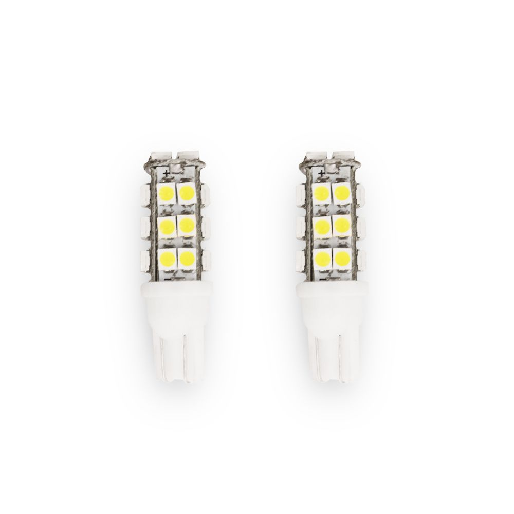 Par Lâmpada Pingo T10 28 Leds 12v 2w Luz Branca