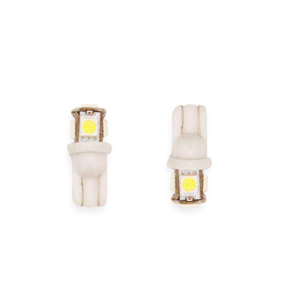 Par Lâmpadas T10 5 LEDS  – Modelo Pingo/Pingão 360º