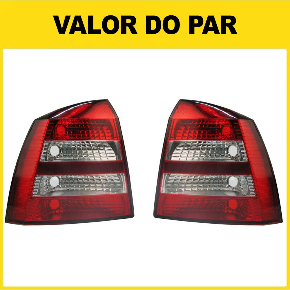 Par Lanterna Traseira Astra Hatch 03 04 05 06 07 08 09 10 11 12 Com Ré Cristal
