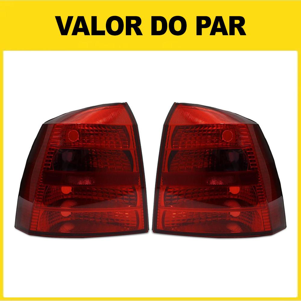 Par Lanterna Traseira Astra Hatch 03 04 05 06 07 08 09 10 11 12 Modelo RED