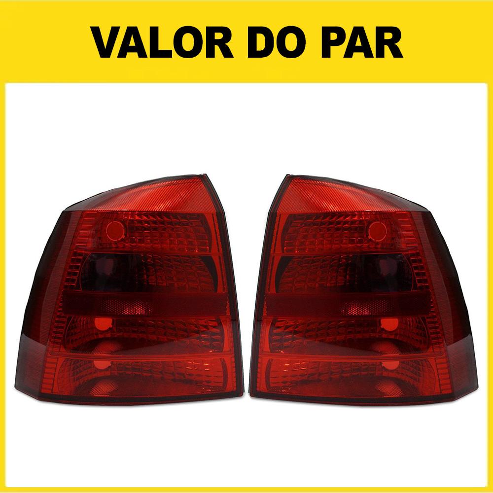 Par Lanterna Traseira Astra Hatch 99 00 01 02 Modelo RED