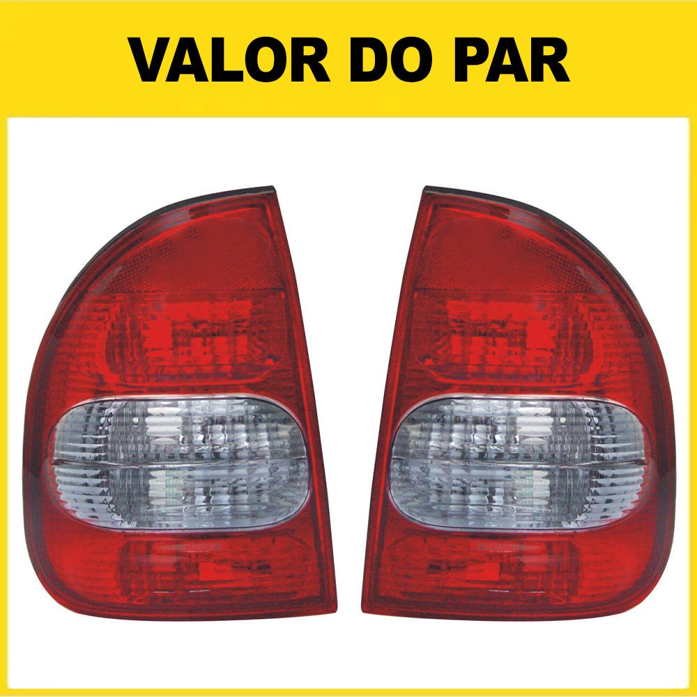 Par Lanterna Traseira Corsa Sedan Classic 02 03 04 05 06 07 08 09 10 Com Ré Fumê