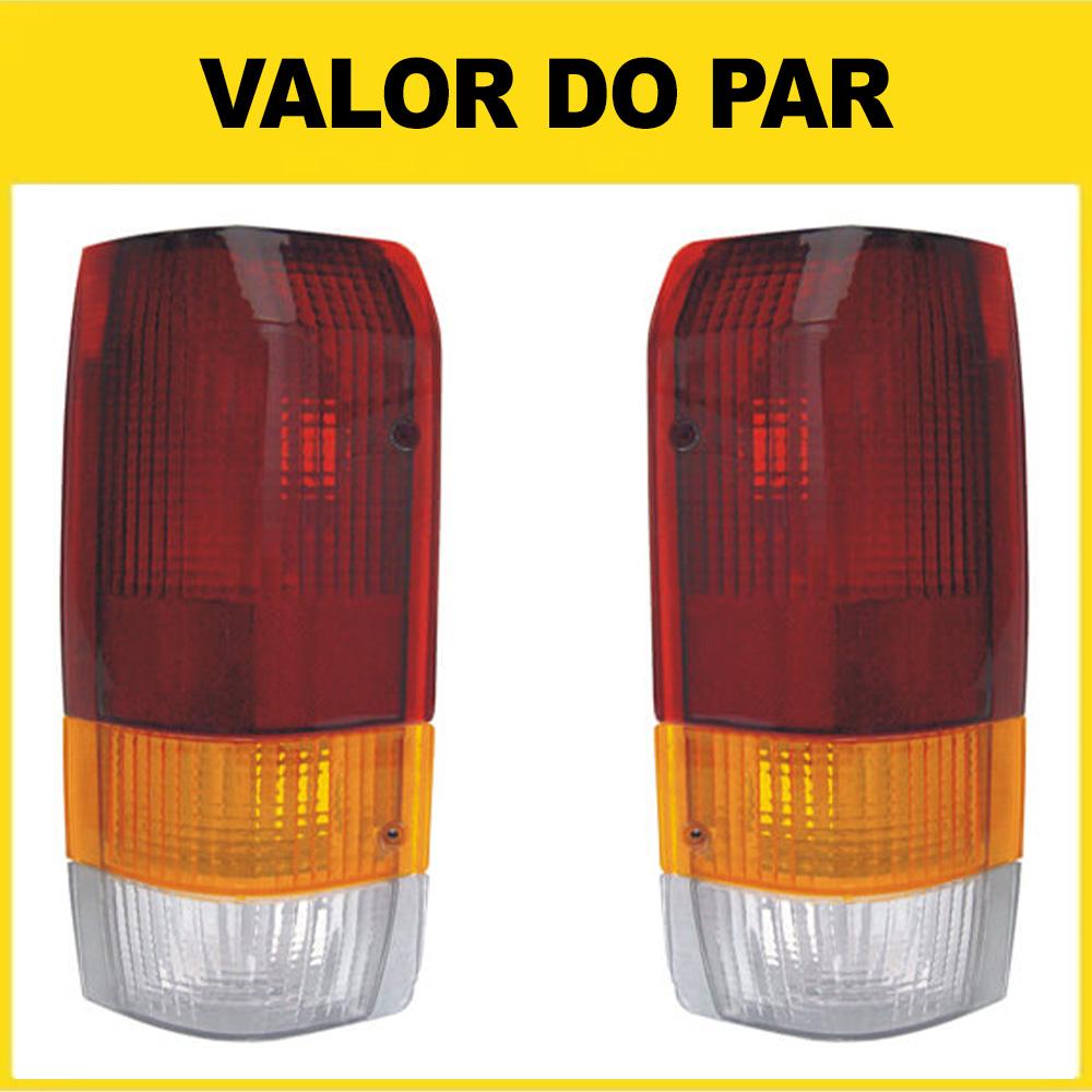 Par Lanterna Traseira F1000 92 93 94 95 96 97 98 Tricolor