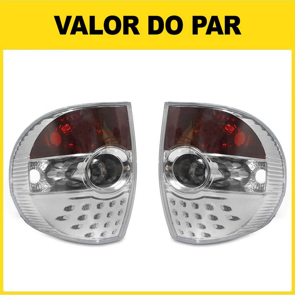 Par Lanterna Traseira Fox Crossfox 03 04 05 06 07 08 09 Cristal Com Efeito LED