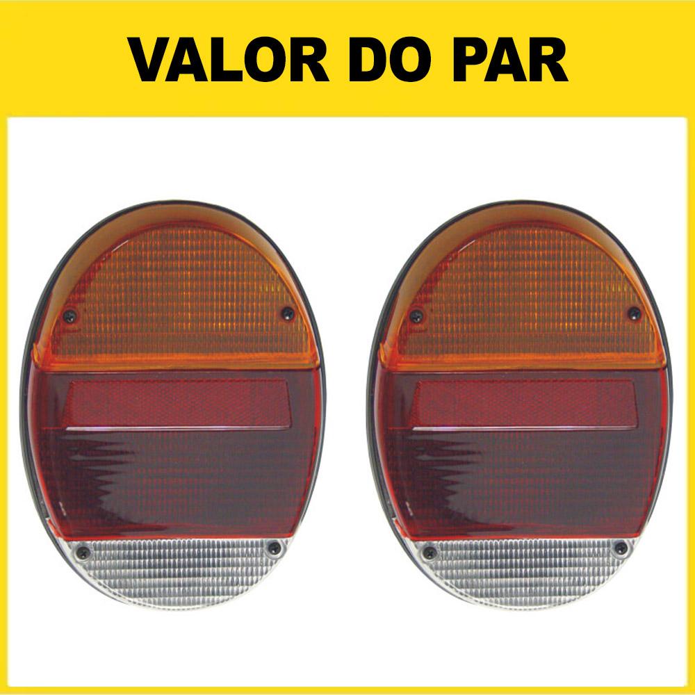 Par Lanterna Traseira Fusca Fafá 76 77 78 79 80 81 82 83 84 85 86 87 88 89 90 91 92 93 94 95 96 Tricolor