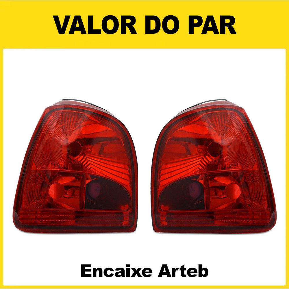 Par Lanterna Traseira Gol Bola 95 96 97 98 99 00 Gol Special 01 02 03 Encaixe Arteb Modelo RED