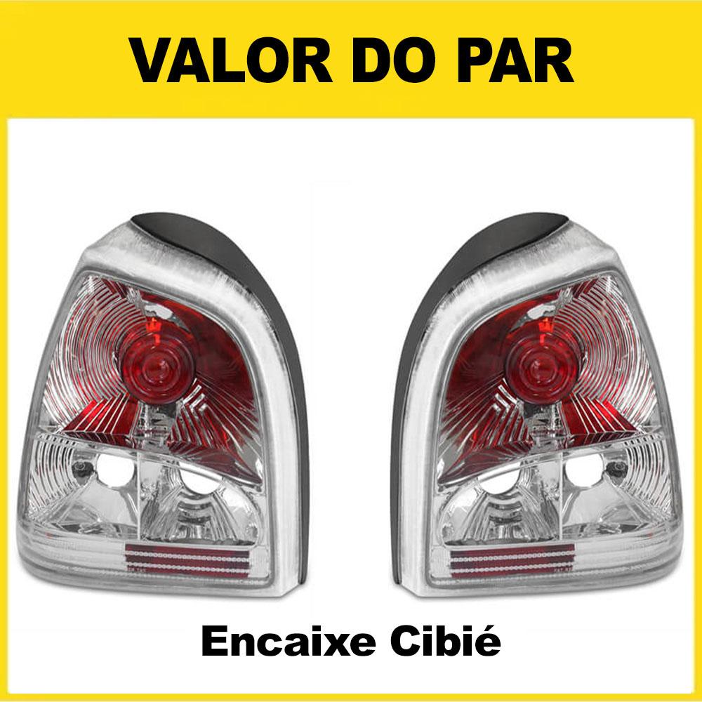 Par Lanterna Traseira Gol Bola 95 96 97 98 99 00 Gol Special 01 02 03 Encaixe Cibié Mod. Cristal