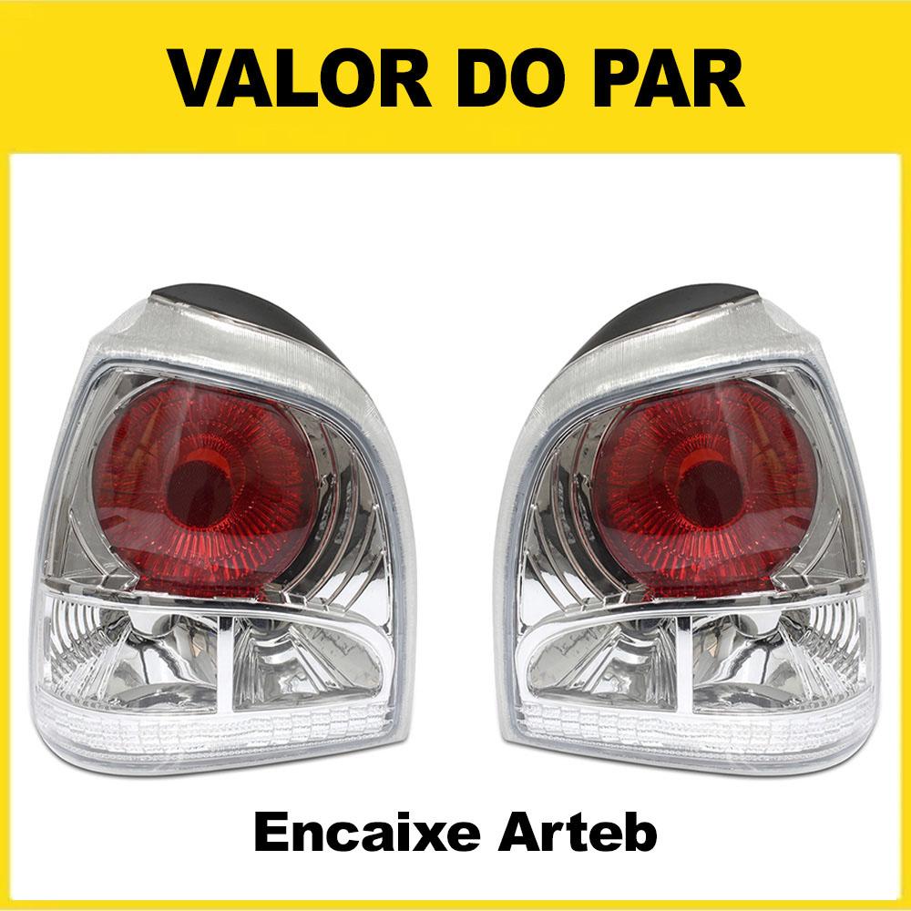 Par Lanterna Traseira Gol Bola 95 96 97 98 99 Gol Special 00 01 02 Encaixe Arteb Cristal