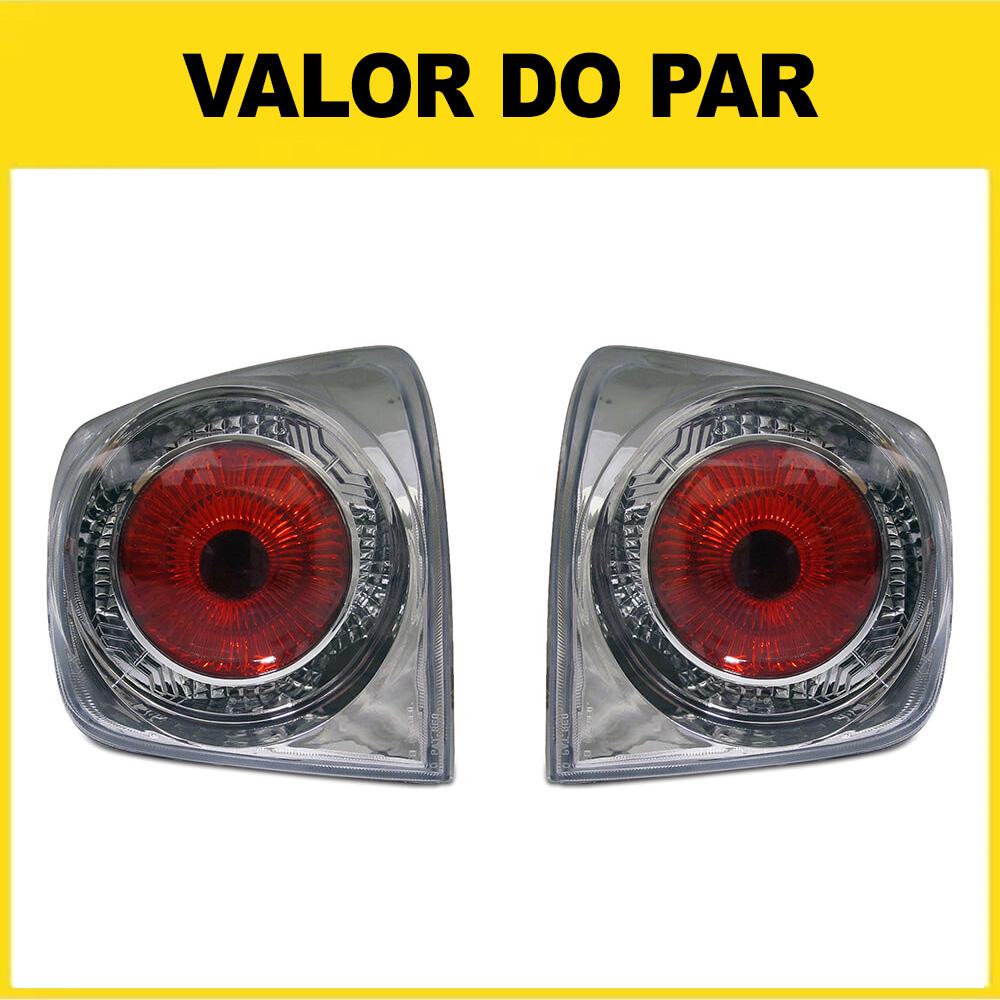Par Lanterna Traseira Golf 98 99 00 01 02 03 04 05 06 Cristal