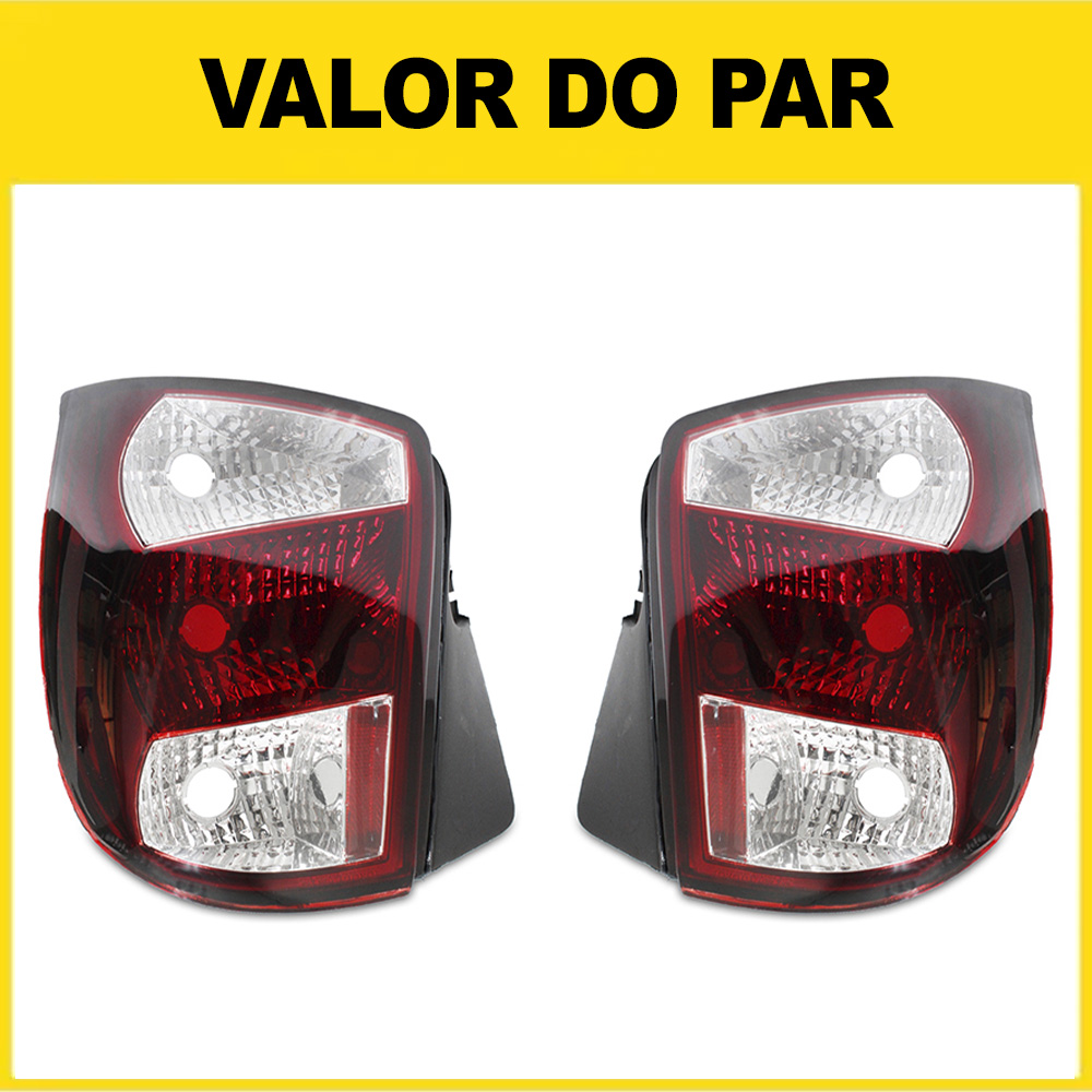 Par Lanterna Traseira Palio G1 96 97 98 99 00 Palio Young 01 02 03 Modelo Rubi Cristal