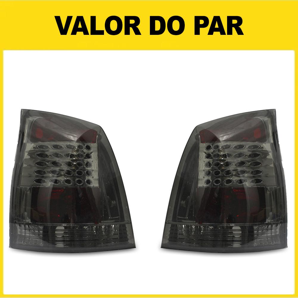 Par Lanterna Traseira Palio G3 04 05 06 07 08 09 10 11 12 13 14 15 16 Fumê Com Efeito LED