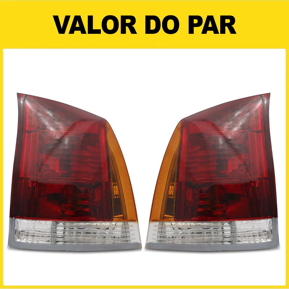 Par Lanterna Traseira Palio G3 04 05 06 07 08 09 10 11 12 13 14 15 16 Tricolor