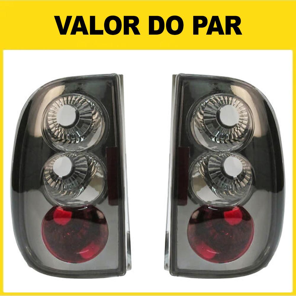 Par Lanterna Traseira Saveiro Bola 96 97 98 99 Saveiro G3 00 01 02 03 04 05 Fumê