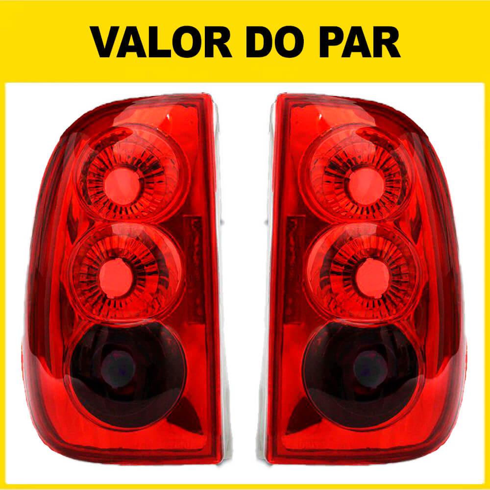 Par Lanterna Traseira Saveiro Bola 96 97 98 99 Saveiro G3 00 01 02 03 04 05 Modelo RED