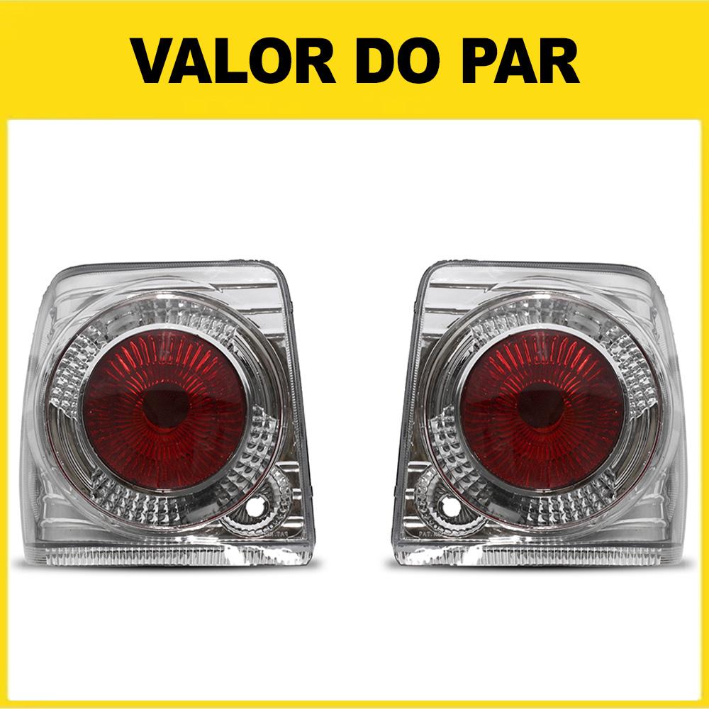 Par Lanterna Traseira Uno 84 85 86 87 88 89 90 91 92 93 94 95 96 97 98 99 00 01 02 03 Cristal