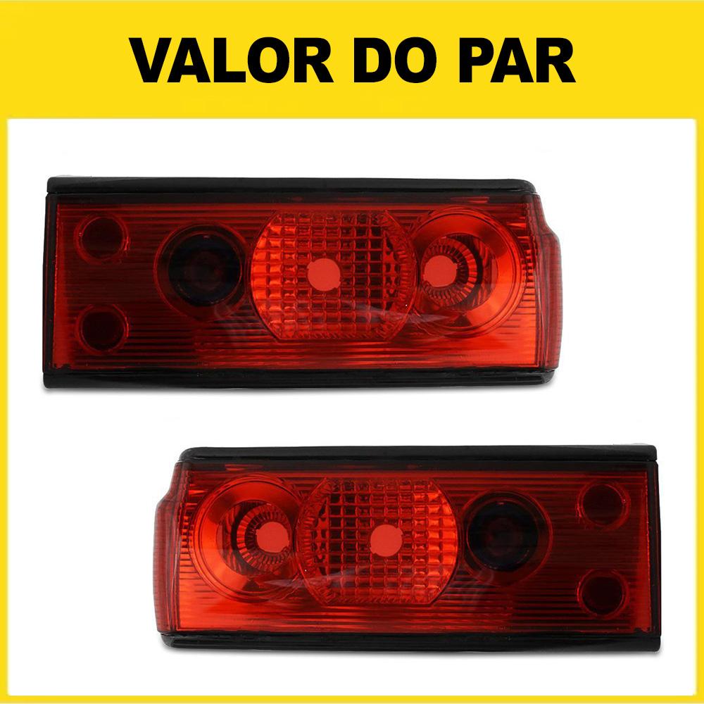 Par Lanterna Traseira Voyage 91 92 93 94 95 Adaptável ao Voyage 82 83 84 85 86 87 88 89 90 Modelo RED