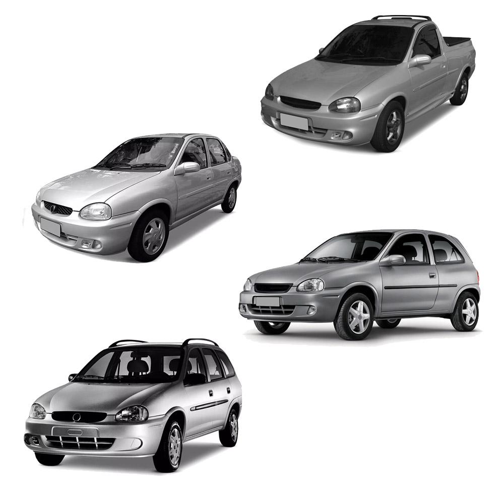 Par Lente Farol Corsa Wind Hatch Sedan Wagon Pick-up 94 95 96 97 98 99 00 01 02 Corsa Classic 03 04 05 06 07 08 09 10 Vidro Lente Lisa