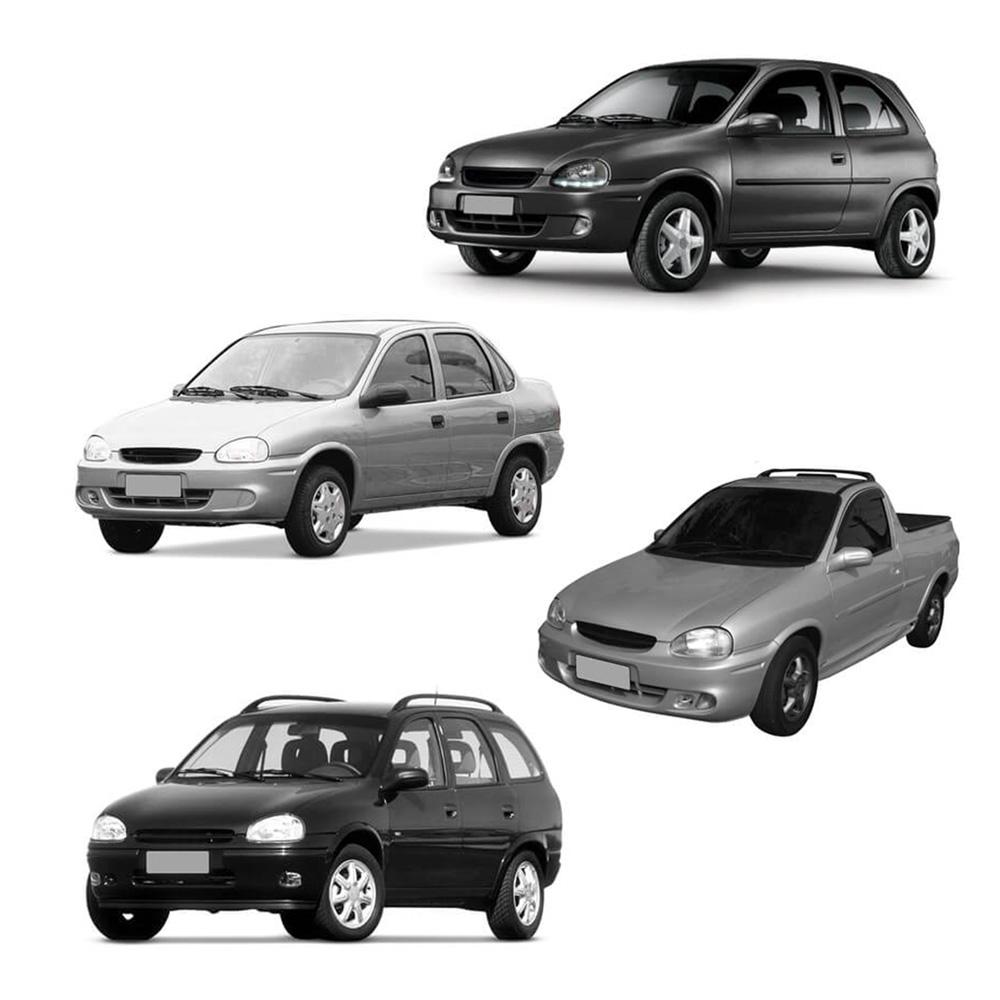 Par Lente Farol Corsa Wind Hatch Sedan Wagon Pick-up 94 95 96 97 98 99 00 01 02 Corsa Classic 03 04 05 06 07 08 09 10 Vidro Lente Raiada