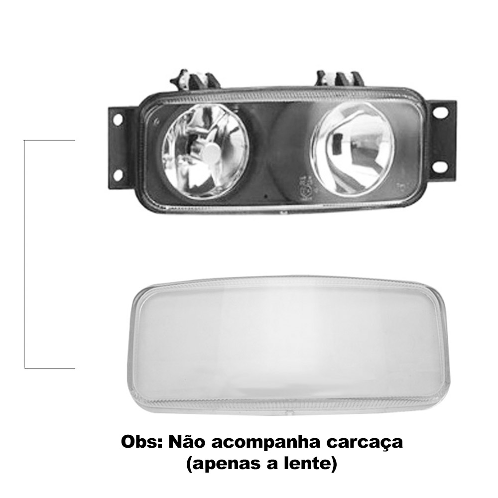 Par Lente Farol de Milha Caminhão Scania Serie 4 00 01 02 03 04 05 06 07 Vidro