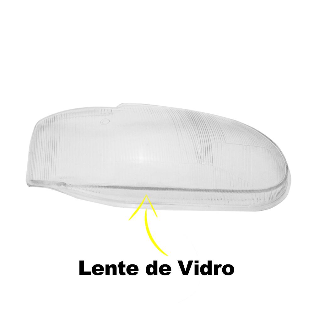 Par Lente Farol Escort Zetec e Escort Perua SW 97 98 99 00 01 02 Vidro