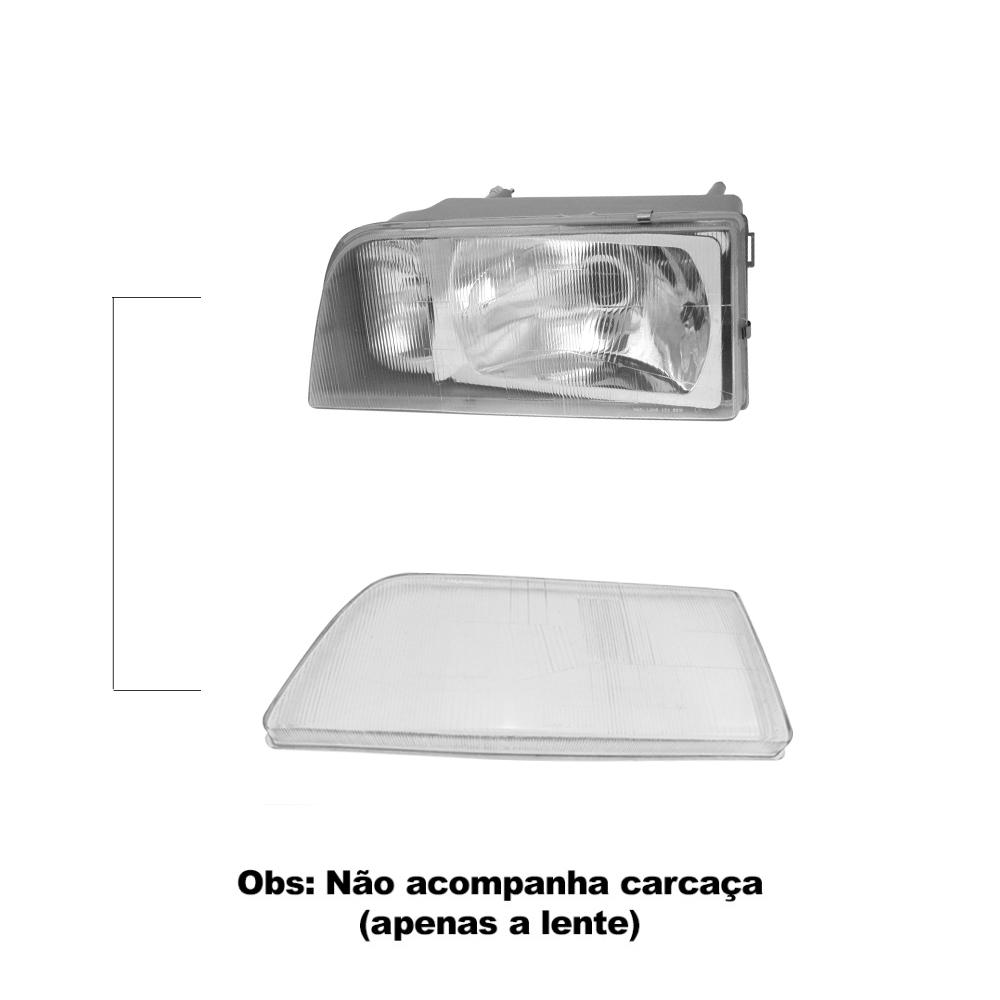 Par Lente Farol Opala Caravan 88 89 90 91 92 Vidro