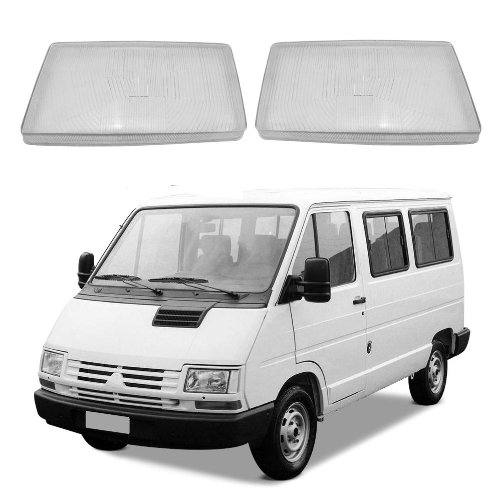 Par Lente Farol Renault Trafic e Chevrolet Space Van 93 94 95 96 97 98 Vidro