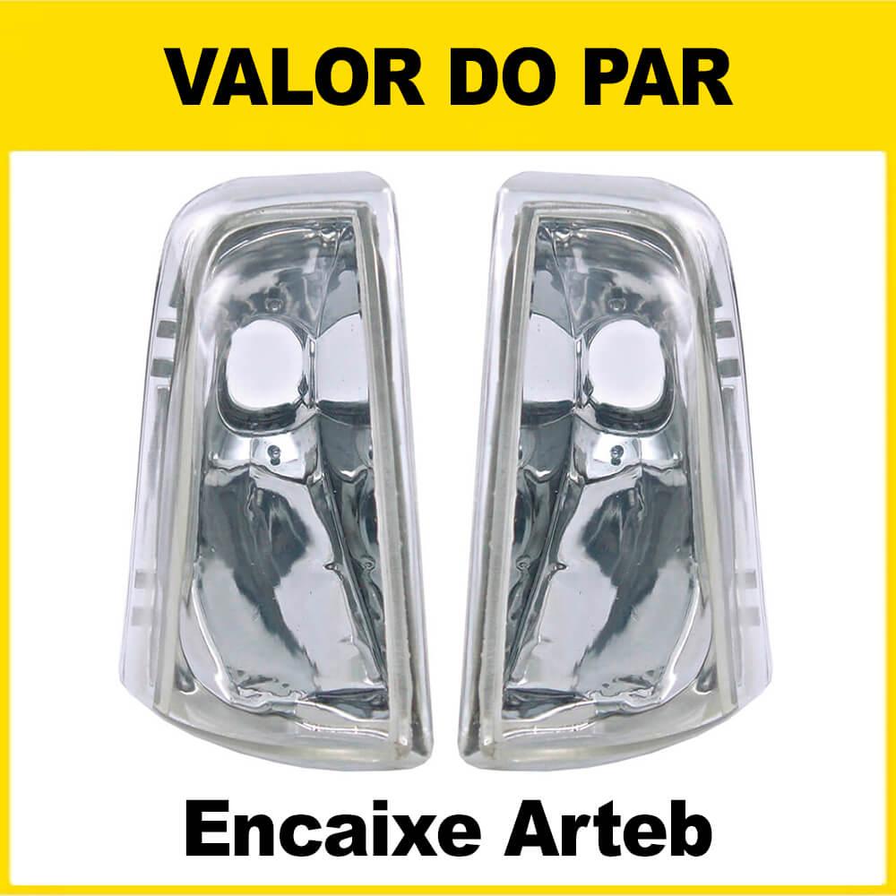Par Pisca Chevette Chevy Marajó 83 84 85 86 87 88 89 90 91 92 93 Cristal Encaixe Arteb