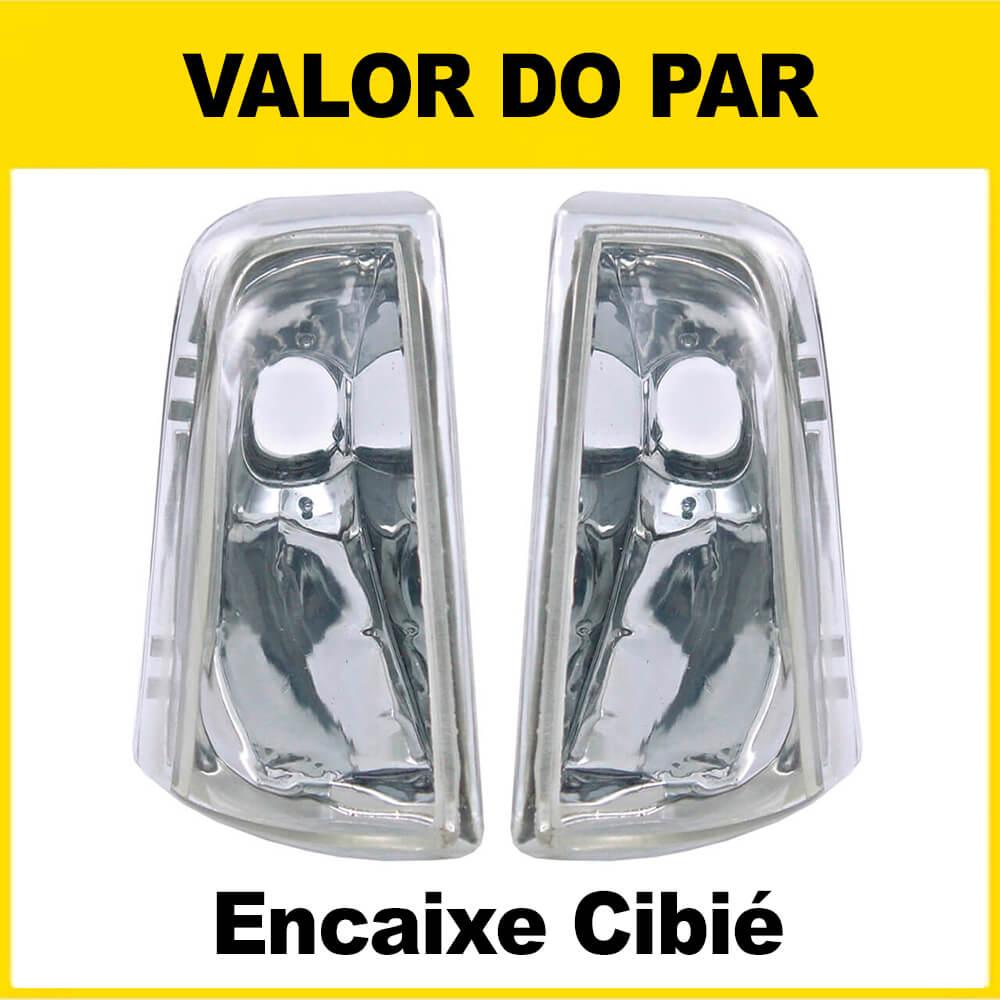 Par Pisca Chevette Chevy Marajó 83 84 85 86 87 88 89 90 91 92 93 Cristal Encaixe Cibié