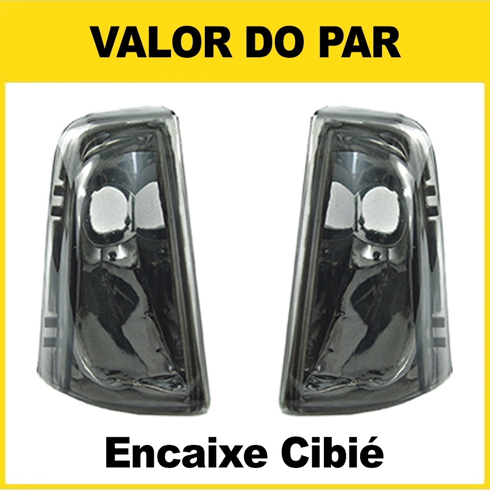 Par Pisca Chevette Chevy Marajó 83 84 85 86 87 88 89 90 91 92 93 Fumê Encaixe Cibié