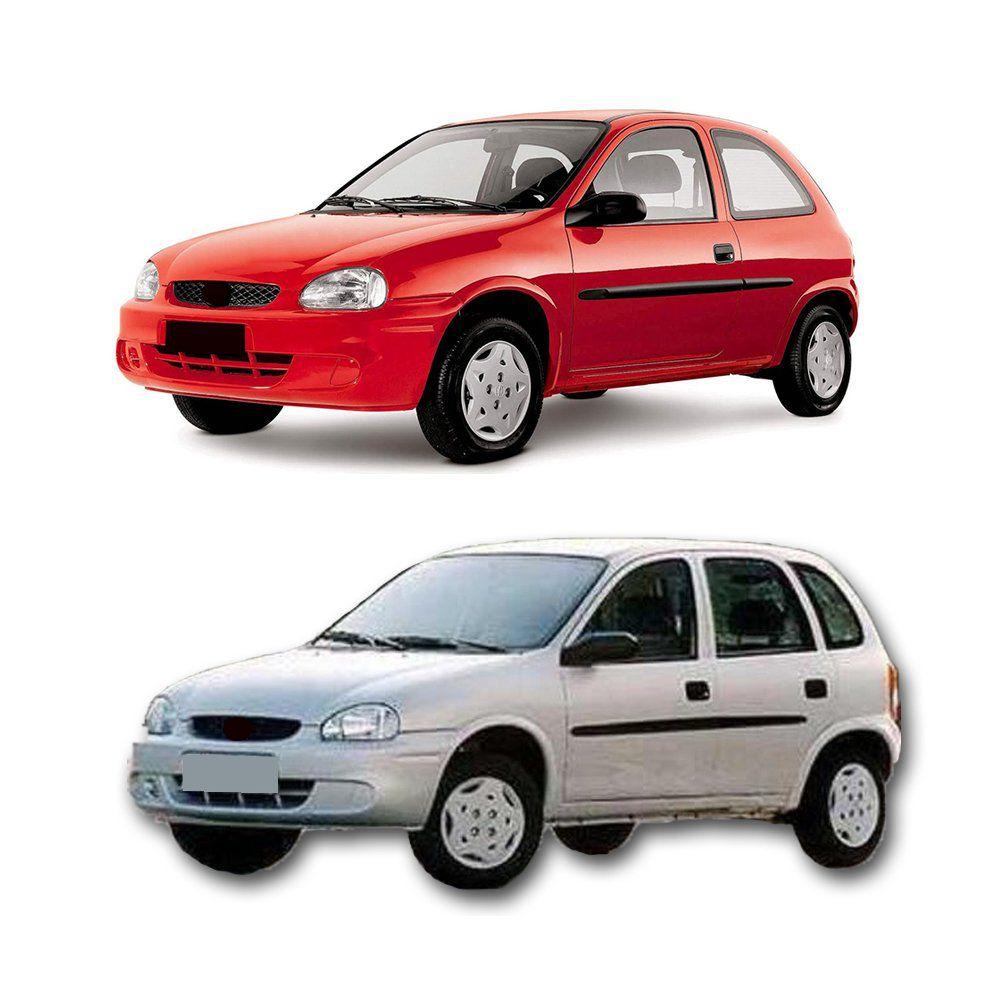 Spoiler Lateral Corsa 1994 1995 96 1997 A 2002 Aplique Prata  - Artmilhas