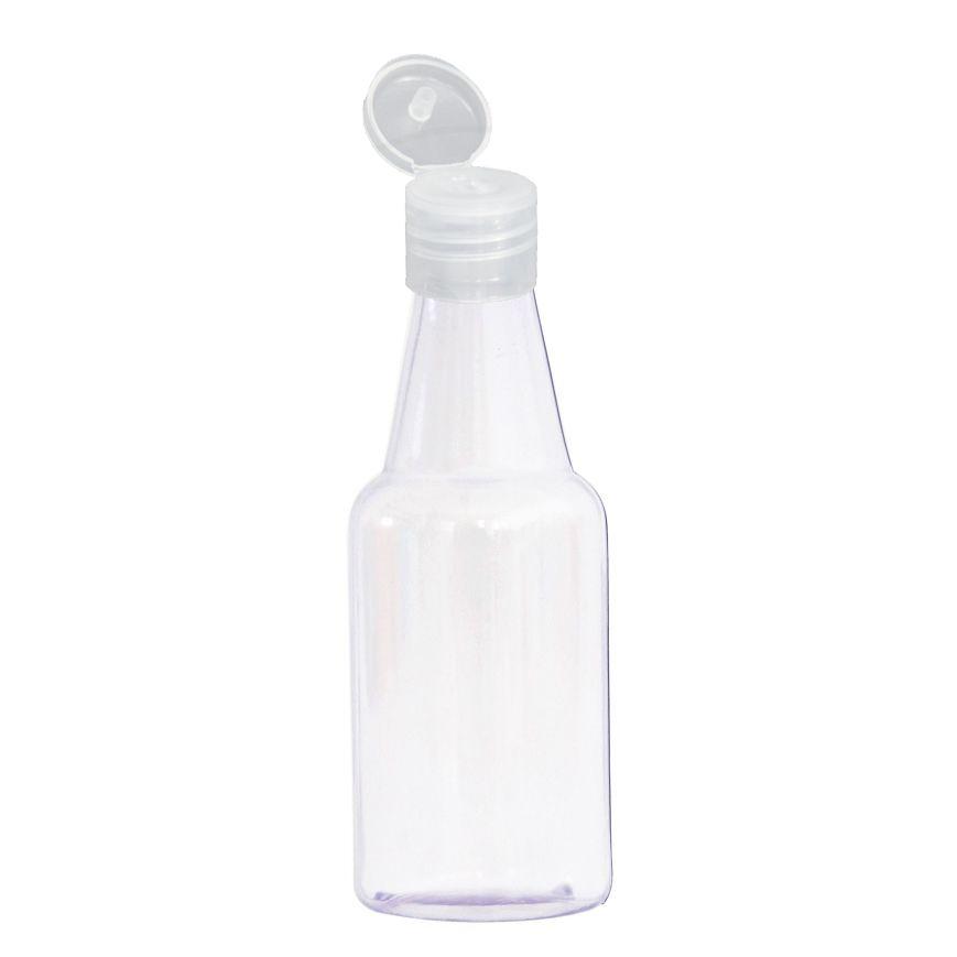 100 Garrafinha flip top para álcool em Gel de 50 ml
