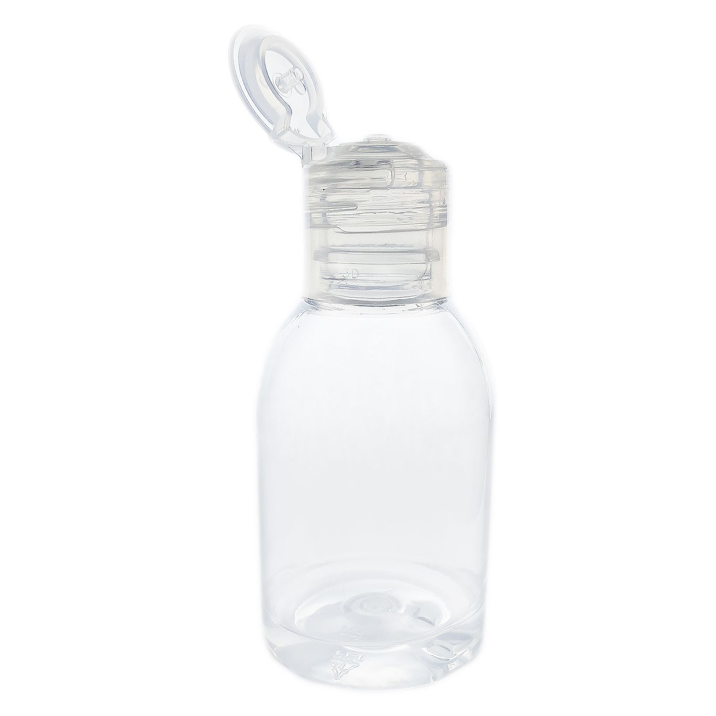 10 Frasco de Plástico PET de 100 ml para álcool gel flip top