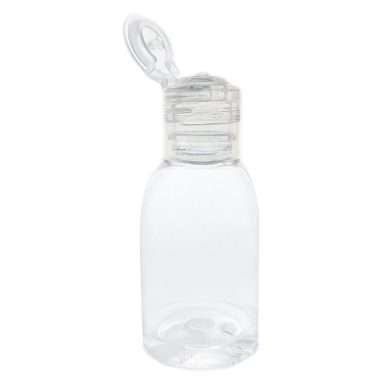 25 Frasco de Plástico PET de 100 ml para álcool gel flip top
