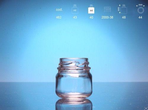 Pote de papinha de 40 ml de vidro liso com 50 unid