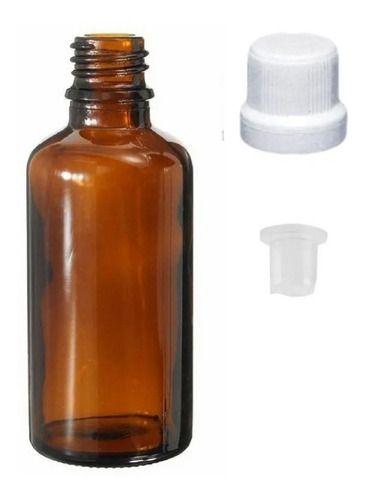 Vidro Âmbar de 30 ml Batoque Gotejador kit com 50