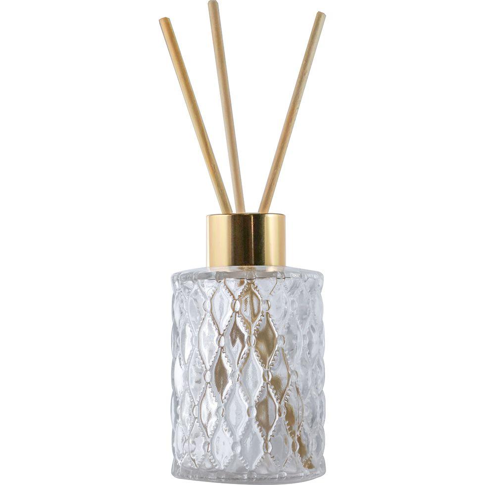 2 Frasco de Vidro para Aromatizador e Difusor 80ml Jaca Tampa Luxo Dourada