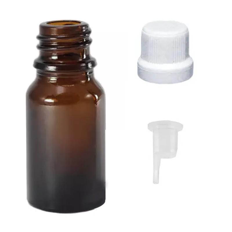 30 Vidro Âmbar de 10 ml para Óleos Essenciais conta gotas