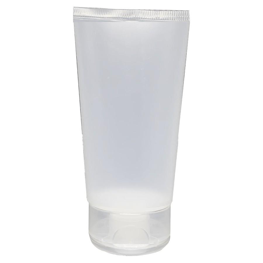 50 Bisnaga para Álcool Gel 110 ml Natural tampa flip top