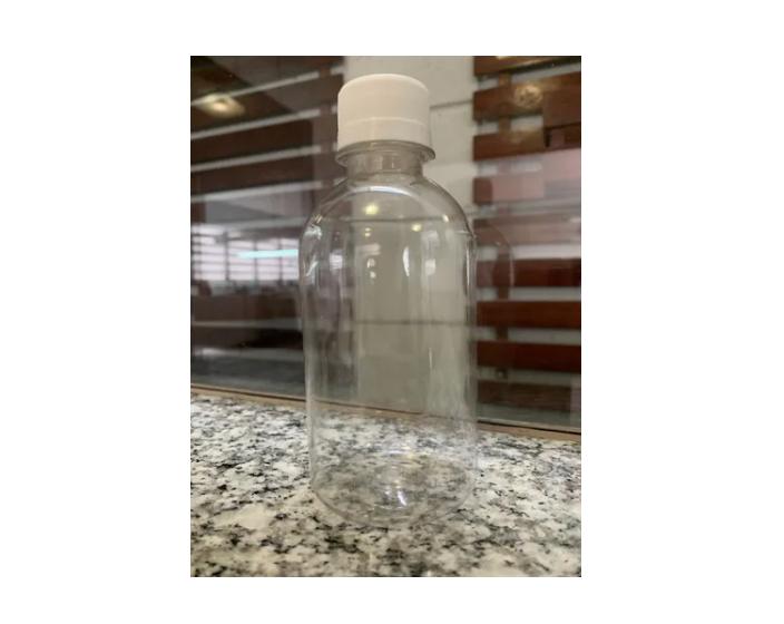 50 Frasco PET de 250 ml para com tampa rosca lacre