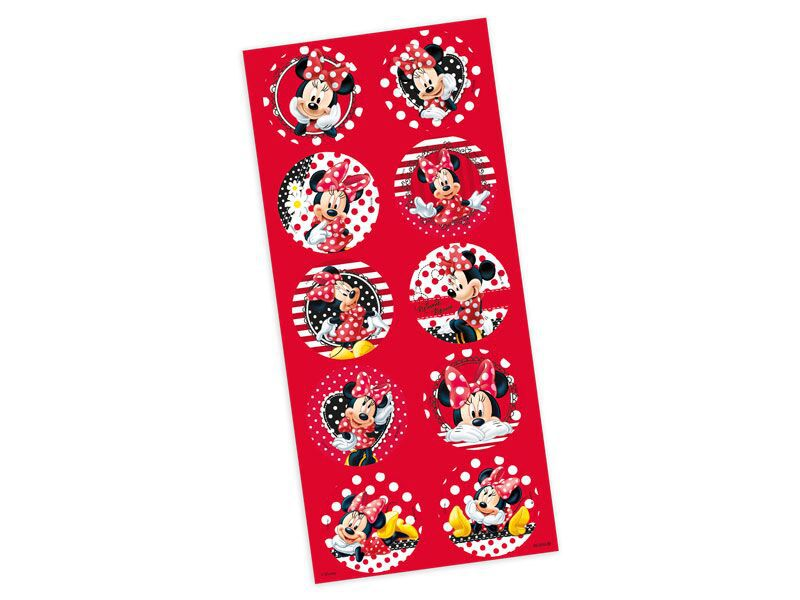 Adesivo da Minnie para Lembrancinhas kit 3 cartelas