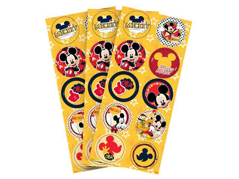 Adesivo do Mickey para Lembrancinhas kit 3 cartelas