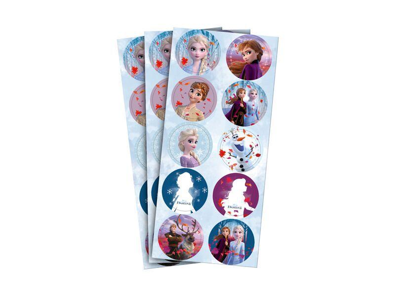 Adesivo para Lembrancinhas Frozen 2 pct c/ 3 Cartelas.