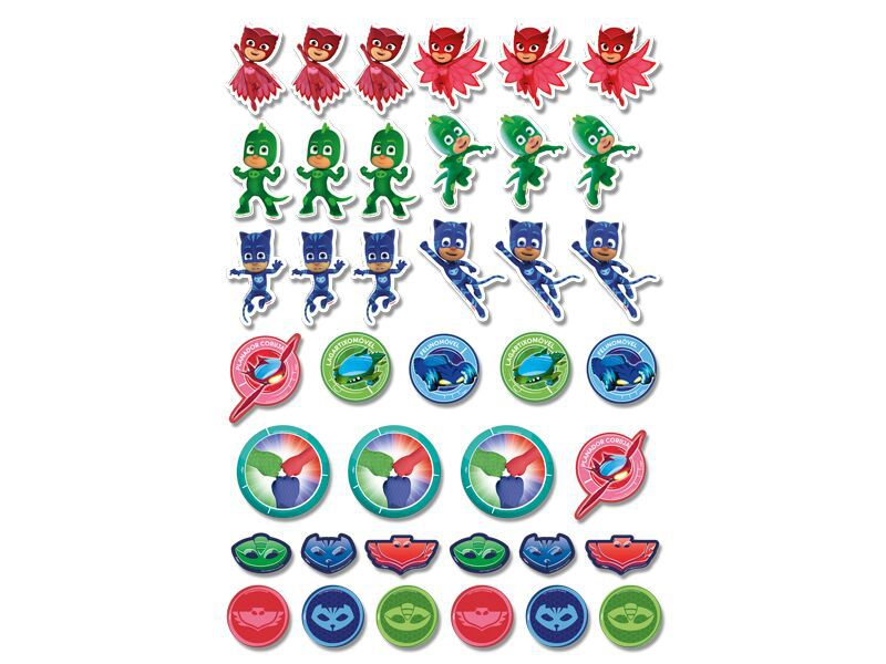 Aplique para Tubetes e Lembrancinhas do PJ Masks