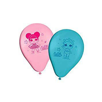 Balões de Aniversário Bexigas da Boneca LOL pacote com 25 unid