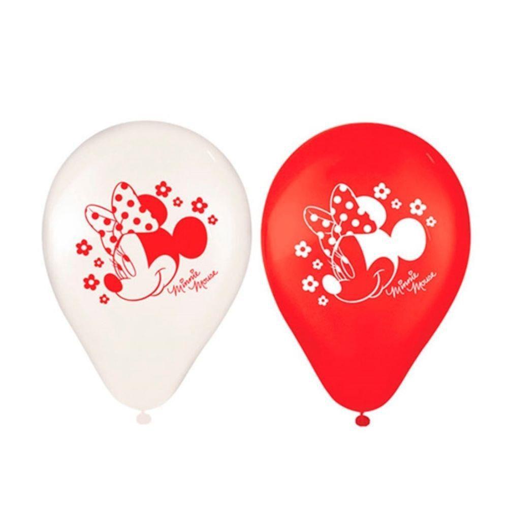Balões de Aniversário Bexigas da Minnie pacote com 25 unid