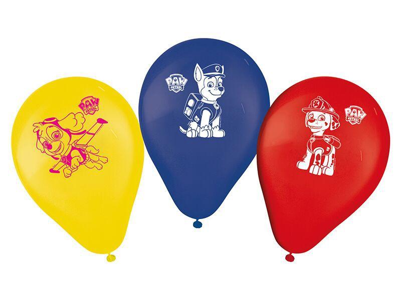 Balões de Aniversário Bexigas da Patrulha Canina pacote com 25 unid