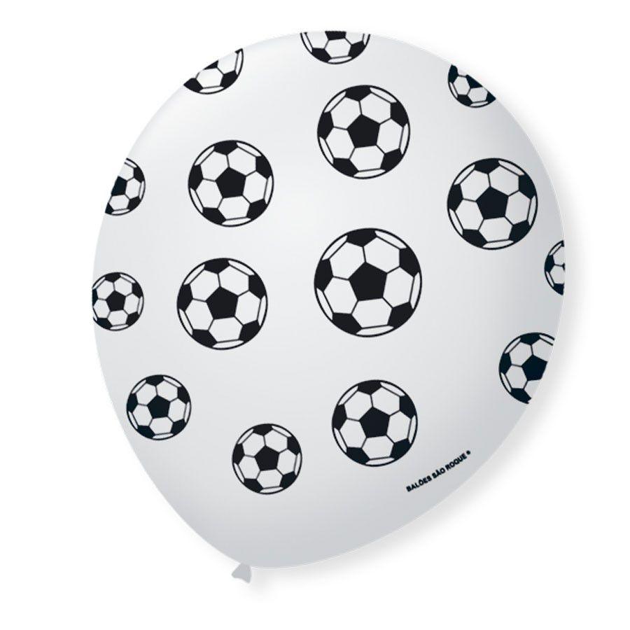 Balão Bexiga Decorada Bola de Futebol N 9 pct com 25 unid