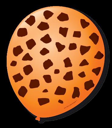 Balão Bexiga Decorada Safare Girafa N 9 pct com 25 unid