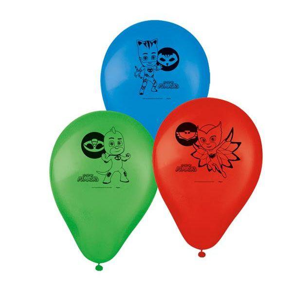 Balões de Aniversário Bexigas do PJ Masks pacote com 25 unid